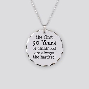 30 Years Childhood Necklace Circle Charm