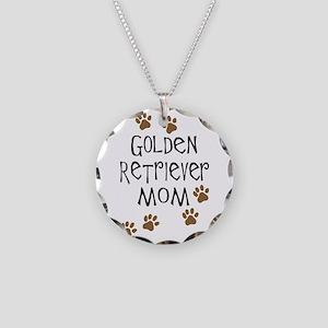Golden Retriever Mom Necklace Circle Charm