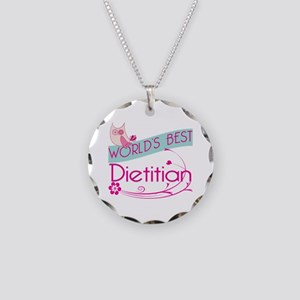 World's Best Dietitian Necklace Circle Charm