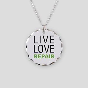 Live Love Repair Necklace Circle Charm