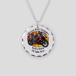 Kawasaki Ninja 1000 Necklace Circle Charm