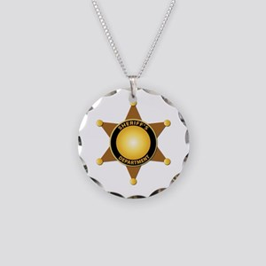Sheriff's Department Badge Necklace Circle Charm