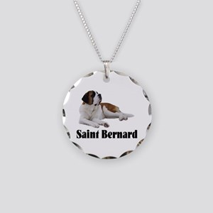 Saint Bernard Necklace Circle Charm