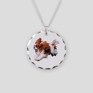 Cavalier Running- Blenheim Necklace Circle Charm