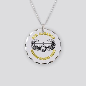 Emblem - Air Assault Necklace Circle Charm