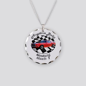 Ford Mustang Mach 1 Necklace Circle Charm