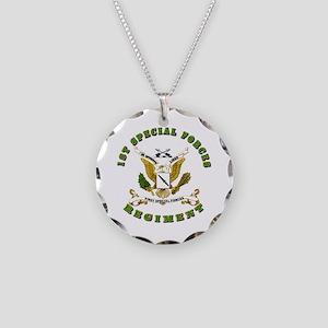 SOF - 1st SF Regiment Necklace Circle Charm