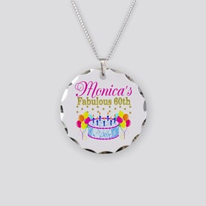 SNAZZY 60TH DIVA Necklace Circle Charm
