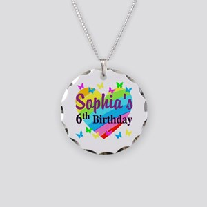 PERSONALIZED 6TH Necklace Circle Charm