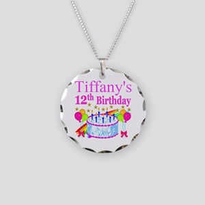 PERSONALIZED 12TH Necklace Circle Charm