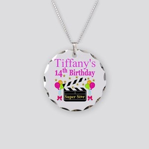 14TH BIRTHDAY Necklace Circle Charm