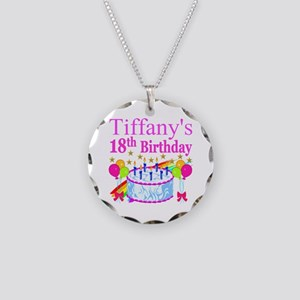 PERSONALIZED 18TH Necklace Circle Charm