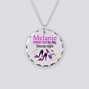 TOP ADMIN ASST Necklace Circle Charm