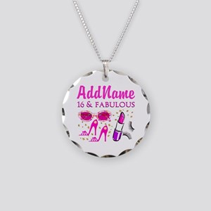 SNAZZY 16TH Necklace Circle Charm