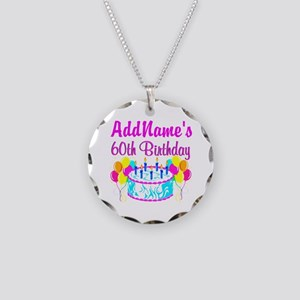 AWESOME 60TH Necklace Circle Charm