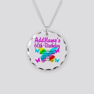UPLIFTING 60TH Necklace Circle Charm