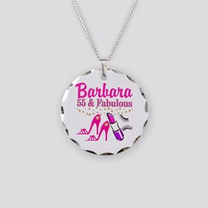 DAZZLING 55TH Necklace Circle Charm
