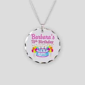 75TH CELEBRATION Necklace Circle Charm