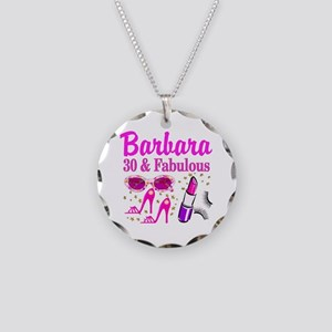 30TH PRIMA DONNA Necklace Circle Charm