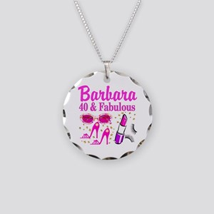 40TH PARTY GIRL Necklace Circle Charm