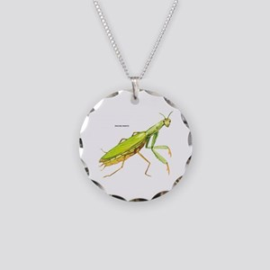 Praying Mantis Insect Necklace Circle Charm