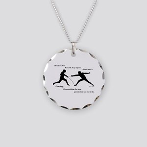 Hit First Necklace Circle Charm