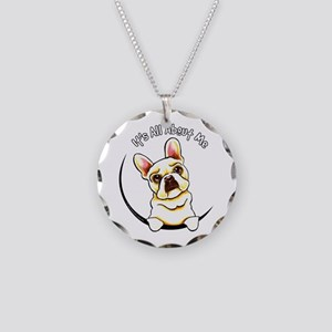 Fawn Frenchie IAAM Necklace Circle Charm