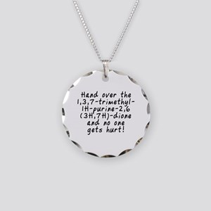 Hand over the caffeine - Necklace Circle Charm