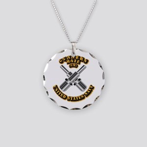 Navy - Rate - GM Necklace Circle Charm
