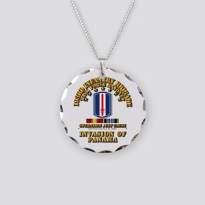 Just Cause - 193rd Infantry Necklace Circle Charm