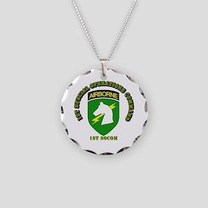 SOF - 1st SOCOM Necklace Circle Charm