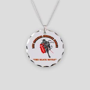 SOF - 1st SSF - Black Devils Necklace Circle Charm