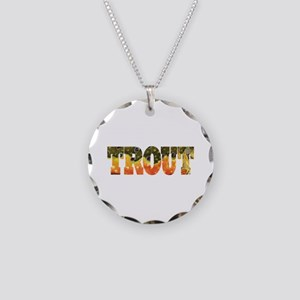 Brook Trout Fly Fishing Catch Necklace Circle Char