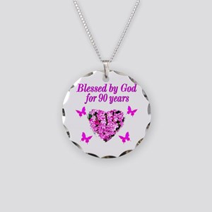 CHRISTIAN 90 YR OLD Necklace Circle Charm