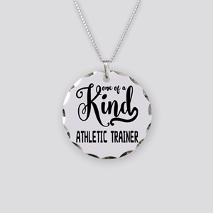 One of a Kind Athletic Train Necklace Circle Charm
