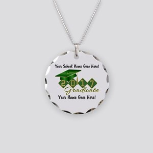 Graduate 2017 Green Gold Necklace