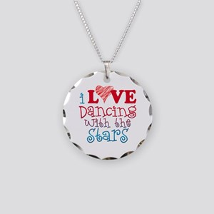 I Love Dancing wtih the Stars Necklace Circle Char