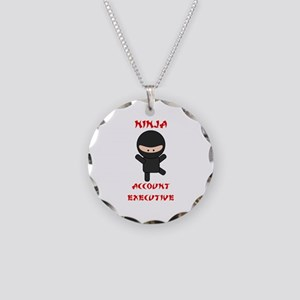 Ninja Account Executive Necklace Circle Charm