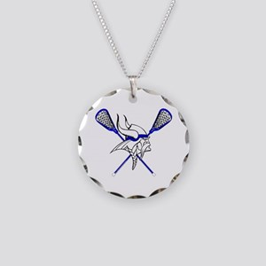 Vikings LaCrosse Necklace Circle Charm