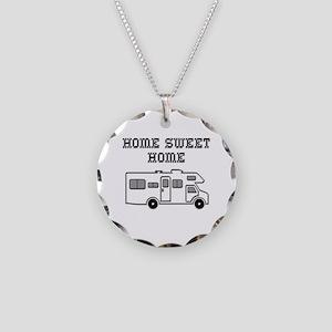 Home Sweet Home Mini Motorhome Necklace Circle Cha