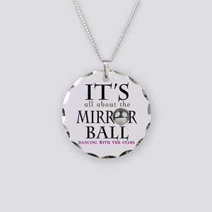DWTS Mirror Ball Necklace Circle Charm