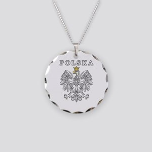 Polska With Polish Eagle Necklace Circle Charm