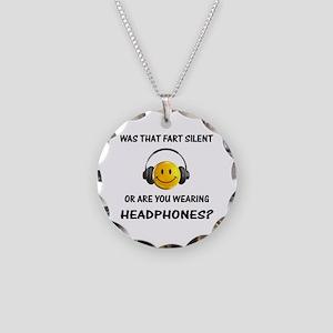Farts & Headphones Necklace Circle Charm