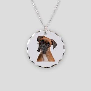 Boxer Necklace Circle Charm