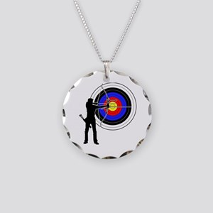 archery man Necklace Circle Charm