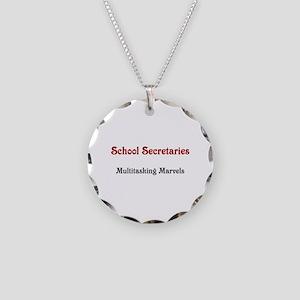 School Sec. Multitasking Marvels Necklace Circle C