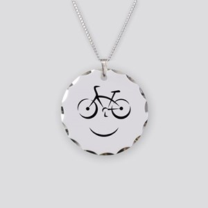 Bike Smile Necklace Circle Charm