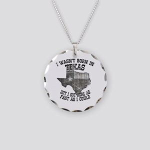 Texas Necklace Circle Charm