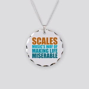 Scales Necklace Circle Charm