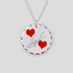 Custom Romance Necklace Circle Charm